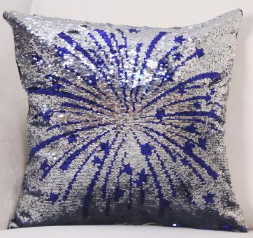 Red White & Blue, Stars & Stripes Magic Sequins Pillows