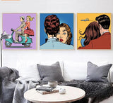 Colorful Pop Art Comic Book Wall Art Scenes