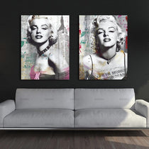 Marilyn Monroe Art Graffiti and Newspaper Style