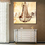 LED Lighted Chandelier Stretched Canvas Wall Art