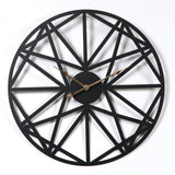Minimalist Geometric Black Iron 20 inch Wall Clock