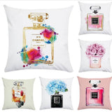 Perfume Bottle Fashion-Inspired Cushion Covers