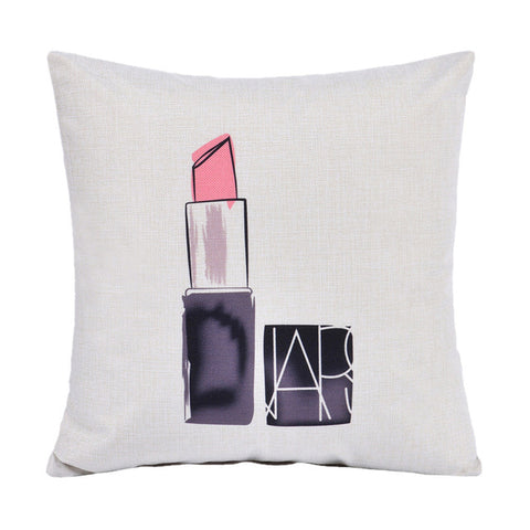 Lipstick, Fashion Home Decor Throw Pillows