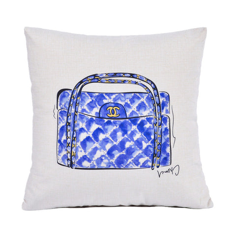 Chanel Purse Fashion Home Decor Throw Pillows