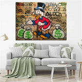 Monopoly Graffiti Wall Picture, Scrooge McDuck