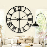 Oversized Iron Wall Clock, 31.5 Inches