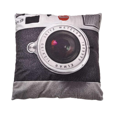 Digital Camera Black and White Throw Pillow, Accent Cushion Cover