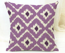 Purple Diamond Tribal Pattern Throw Cushion Cover