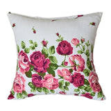 Red & Black Big Striped Accent Pillow & Pink Roses Accent Pillow