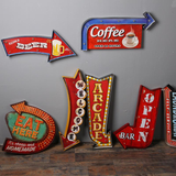 Retro LED Metal Signs for Wall