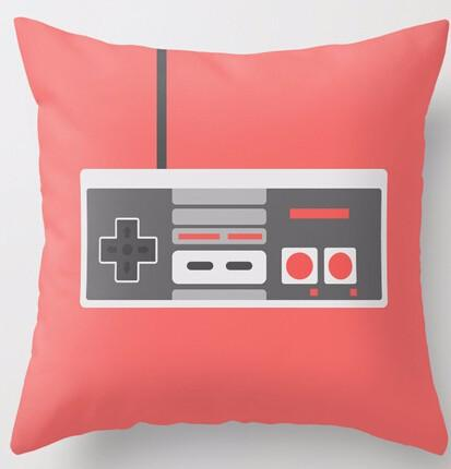 Retro Throw Pillow Classic Nintendo Controller Accent Pillow