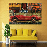 Road Trips Themed Abstract Pop Art Canvas Prints