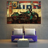 Classic Convertible Wall Art, Road Trips Themed Abstract Pop Art Canvas Prints