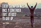 Rocky Balboa Motivational Quote Art Silk Canvas Print, Poster