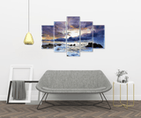 Rolling Sea and Sunset Canvas Set