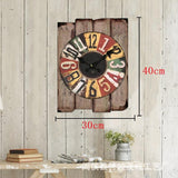 Rustic Wall Clock, Beach Style