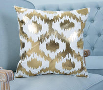 Scandistyle White with Gold Graphics Throw Pillow Covers