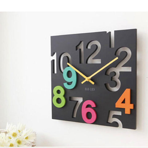 Scrambled Numbers Wall Clock, Multi-color