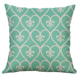 Sea Green and White Accent Pillows