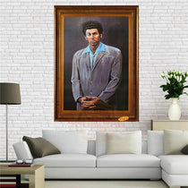 Seinfeld Kramer Funny Portrait Silk Canvas Print Wall Art