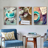 Country Kitchen, Cafe Canvas Print Set, Shabby Chic Wall Prints
