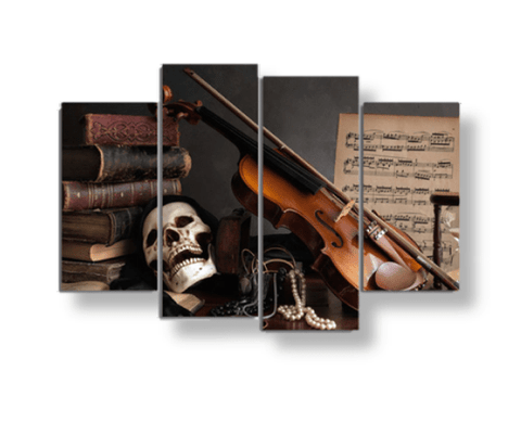 Skull and Music Scene Canvas Set