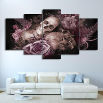 Skull and Rose Canvas Painting Set