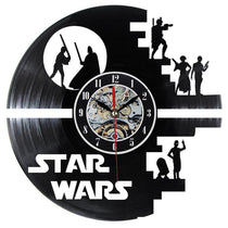 Star Wars Characters Novelty Clock Gift, Vinyl Record Wall Clock