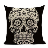 Sugar Skull Throw Pillow Covers, Boho Punk Accent Pillows