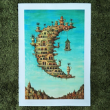 Surrealism Moon Community Canvas Artwork Salvador Dali Wall Print
