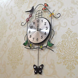 Swinging Clock Pendulum Butterfly Iron Wall Clock