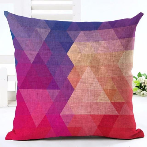 Triangle Pattern Accent Pillow in Bright Colors