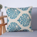 Turquoise Damask Pattern Decorative Pillow Covers