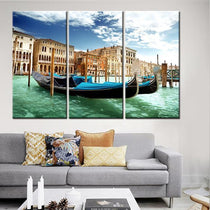 Venice Gondola Artwork, 3 Pieces