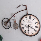 Vintage Brass Bike Wall Clock