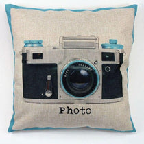 Vintage Camera Design Throw Pillow