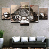 Vintage Motorcycle 5 Piece Canvas Wall Art Set - Shop Cheap Wall Decor Online