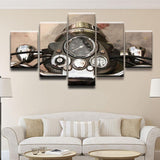 Vintage Motorcycle 5 Piece Canvas Wall Art Set