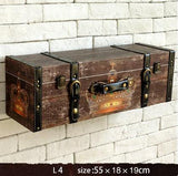 Vintage Suitcase Shelves Wall Decorations
