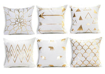 Shop Best Deals on White and Gold Throw Pillows