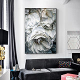 Shop Best Deals on White Roses Black and White Canvas Print Oil Painting