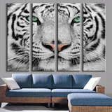 Shop Best Deals on White Tiger Canvas Art Set, Large 4 Panels