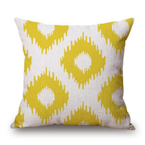 Shop Best Deals on White with Yellow Diamond Pattern Throw Pillow