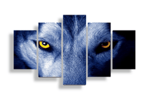 Wolf Artwork, Wolf Eyes Canvas Set