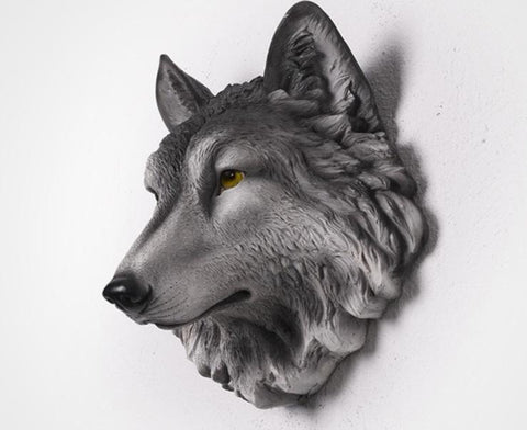Wolf Head Decoration for Wall