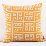 Yellow Elephant Pattern Accent Pillow