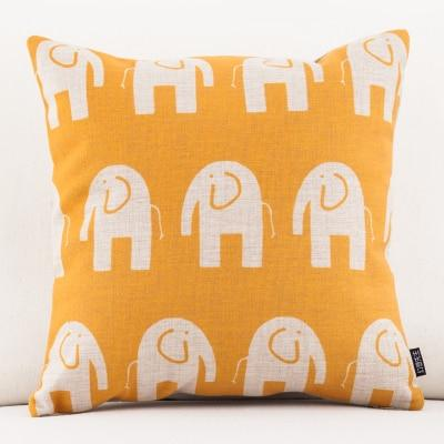 Shop Best Deals on Yellow Elephant Pattern Accent Pillow