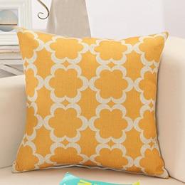 Shop Best Deals on Yellow Geometric, Retro Pattern Throw Pillows