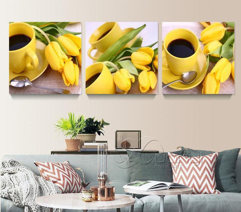 Shop Best Deals on Yellow Sunflower Wall Art Set