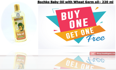 BUY ONE GET ONE FREE BOCHKO Baby Oil with wheat germ oil - 220 ml